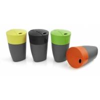 """Sulankstomų puodelių """"Pack-up Cup"""" rinkinys, 4 vnt. lime/black/green/orange"""