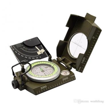 Itališkas kompasas metaliniu korpusu