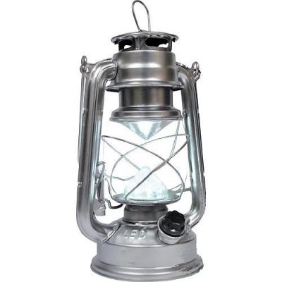 Pakabinamas žibintas, 16 LED, 15x11.5x23.5 cm, 4xAA, sidabro spalvos