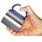 Puodelis Ferrino inox cup with carabiner
