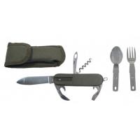 Daugiafunkcinis peilis su valgymo įrankiais MFH
