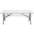 Sulankstomas stalas baltas 240cm
