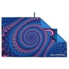 Kelioninis rankšluostis Lifeventure Soft Fibre Recycled Geometric Andaman