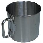 Puodelis iš nerūdijančio plieno su dviguba rankena, 450 ml