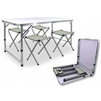 Sulankstomas stalas ir 4 kėdės