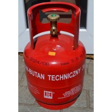 Dujų balionas 3 kg su buitiniu ventiliu